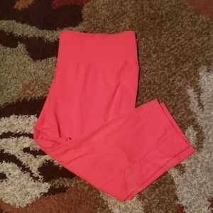 Coral plus size active workout capris